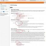Daten für das Google Analytics Konto eintragen