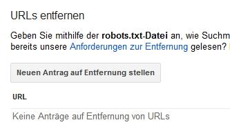 URL aus den Suchergebnissen von Google entfernen