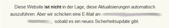 e-mail Benachrichtung bei Automatischen Updates