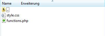 functions.php erstellen