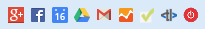 Ein Ausschnitt meiner Bookmarkliste ohne Beschreibung nur mit Icon