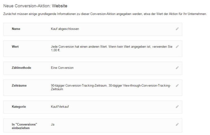 Conversion Tracking in AdWords einrichten