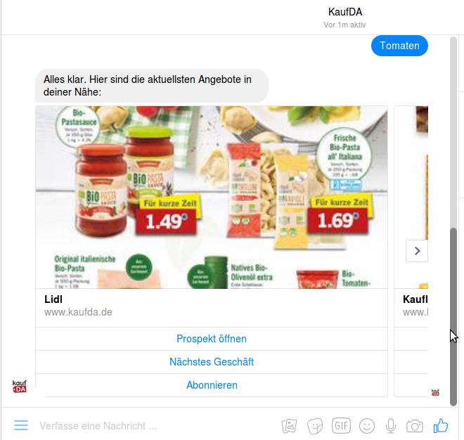 Der AngeBOT von KaufDA ist stark regional ausgelegt.