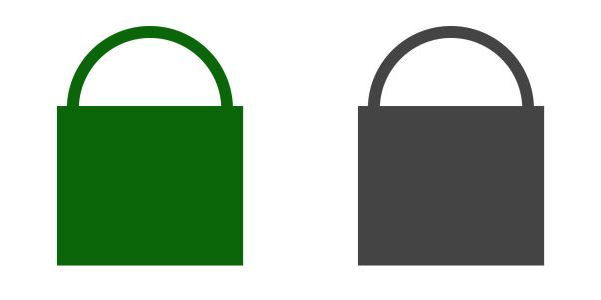 Bild: SSL Key grün und grau im Browser